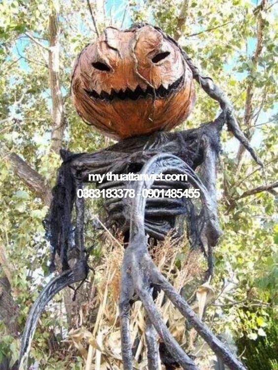 mô hình mút xốp halloween