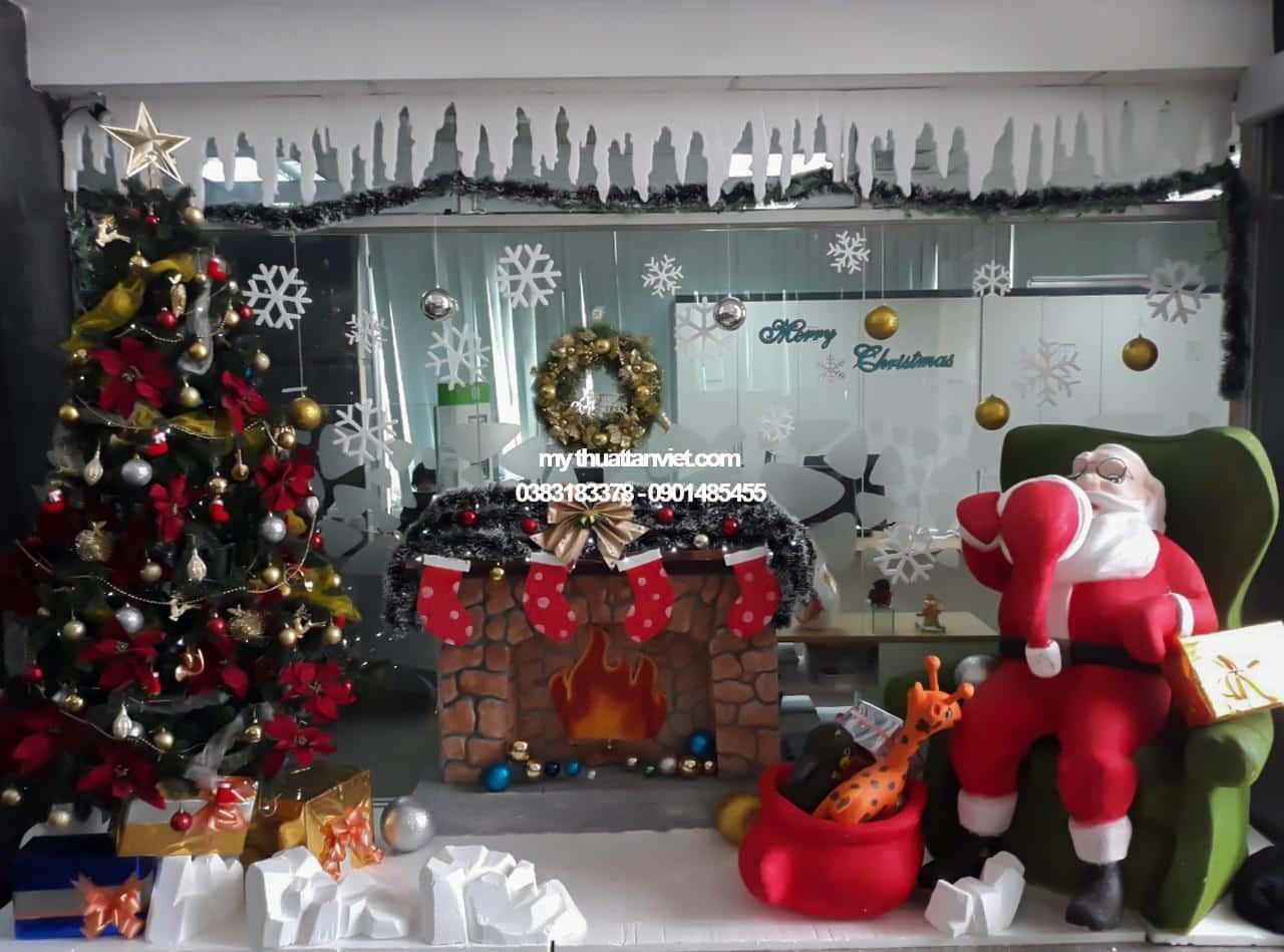 gia công mô hình mút xốp trang trí Noel