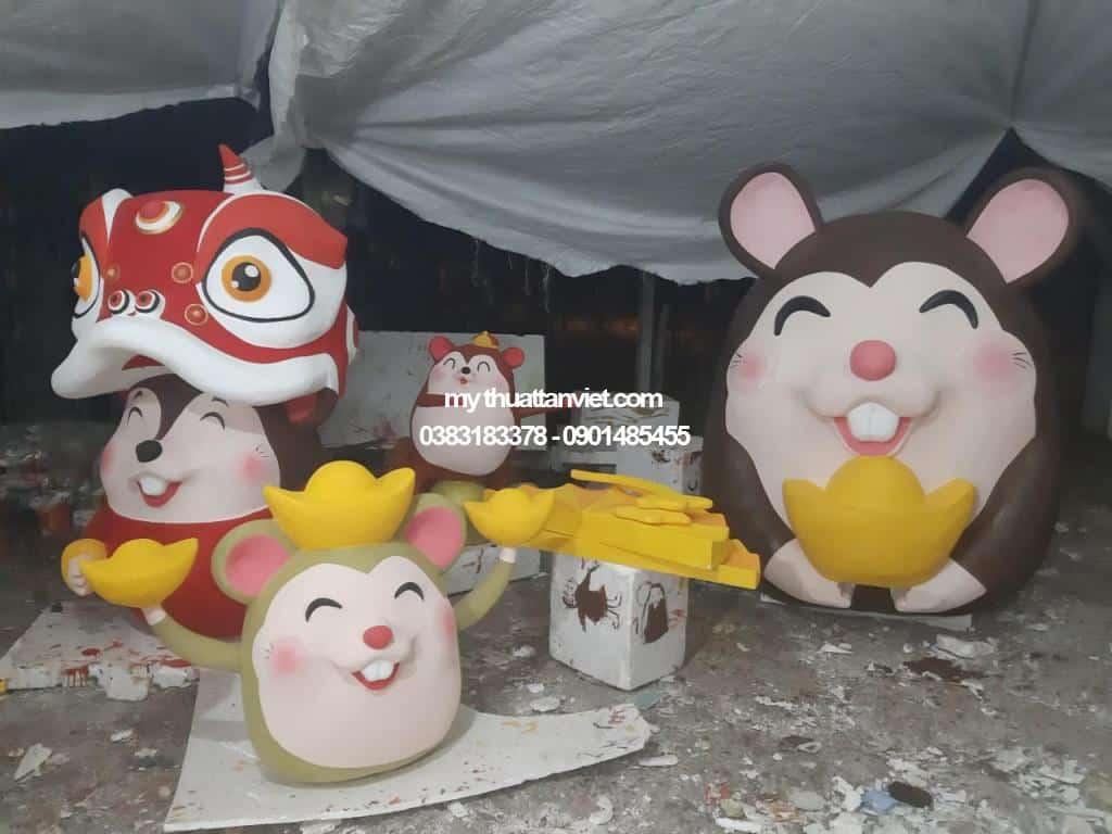 trang trí chuột tết 04