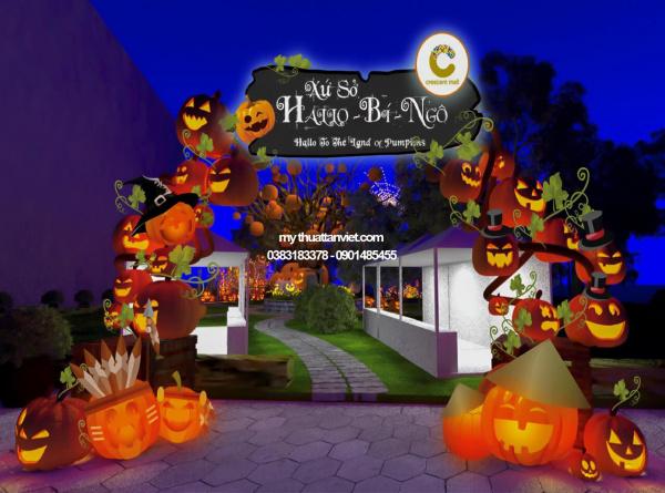 tiểu cảnh halloween