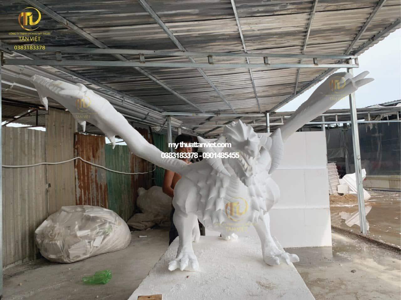 mô hình mút xốp rồng 3D
