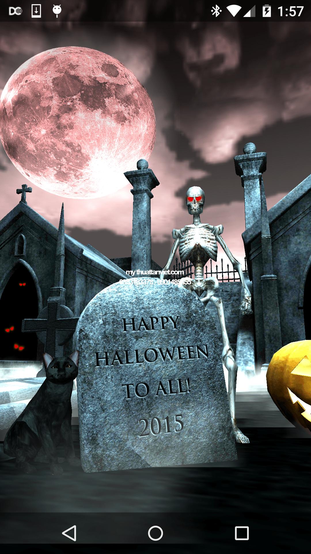 mô hình trang trí halloween
