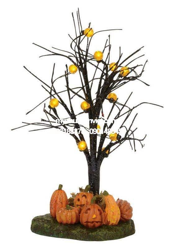 mô hình cây halloween
